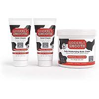 UDDERLY SMOOTH Bundle, 2-2 Ounce Tubes of Hand Cream & 1-12 Ounce Jar of Body Cream