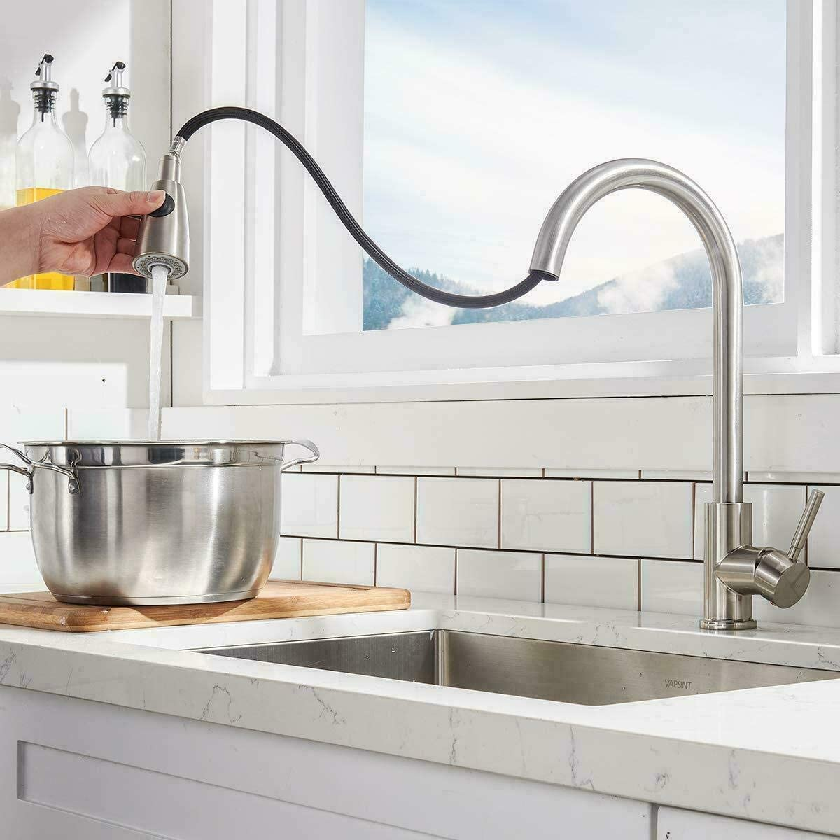 Stainless Steel Sink Spray U-BCOO Pull-Down Kitchen Faucet Replacement Hose