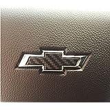2011-2016 Chevrolet Cruze - Steering Wheel Bowtie Overlay Decal (Color: 3D Carbon Fiber)