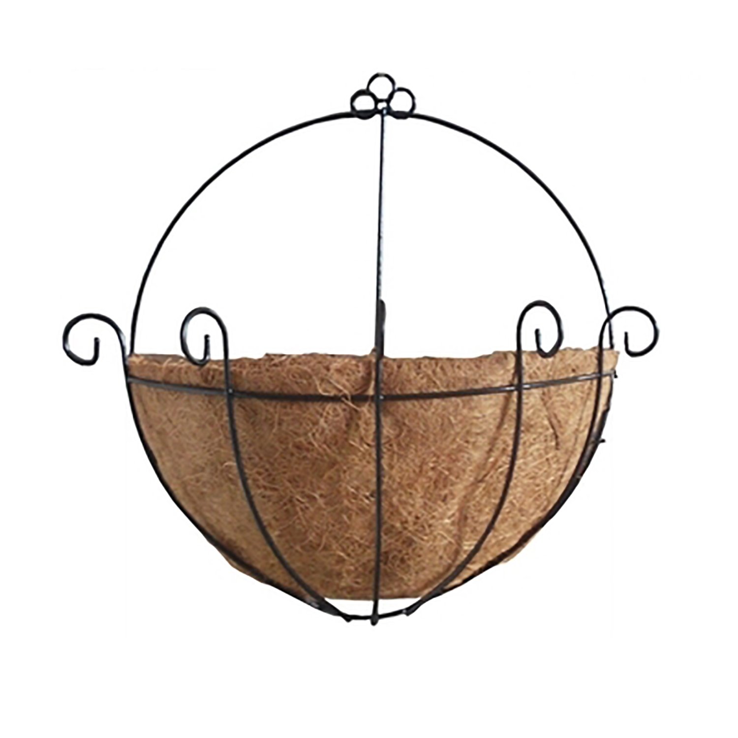 Wall Mount Hanging Planter Basket with Coco Liner, 10-Inch