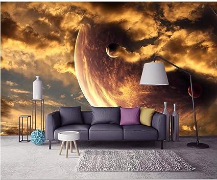 Wuyyii Custom Wallpaper Golden Yellow Aesthetic Atmosphere Starry