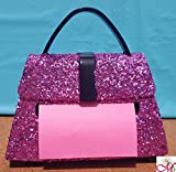Glitter Purse Post-It Note Dispenser, Set of 1, (Your Choice of Color)