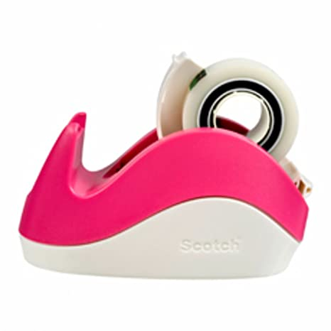 Scotch C29 - Dispensador cinta con rollo de cinta adhesiva, color rosa