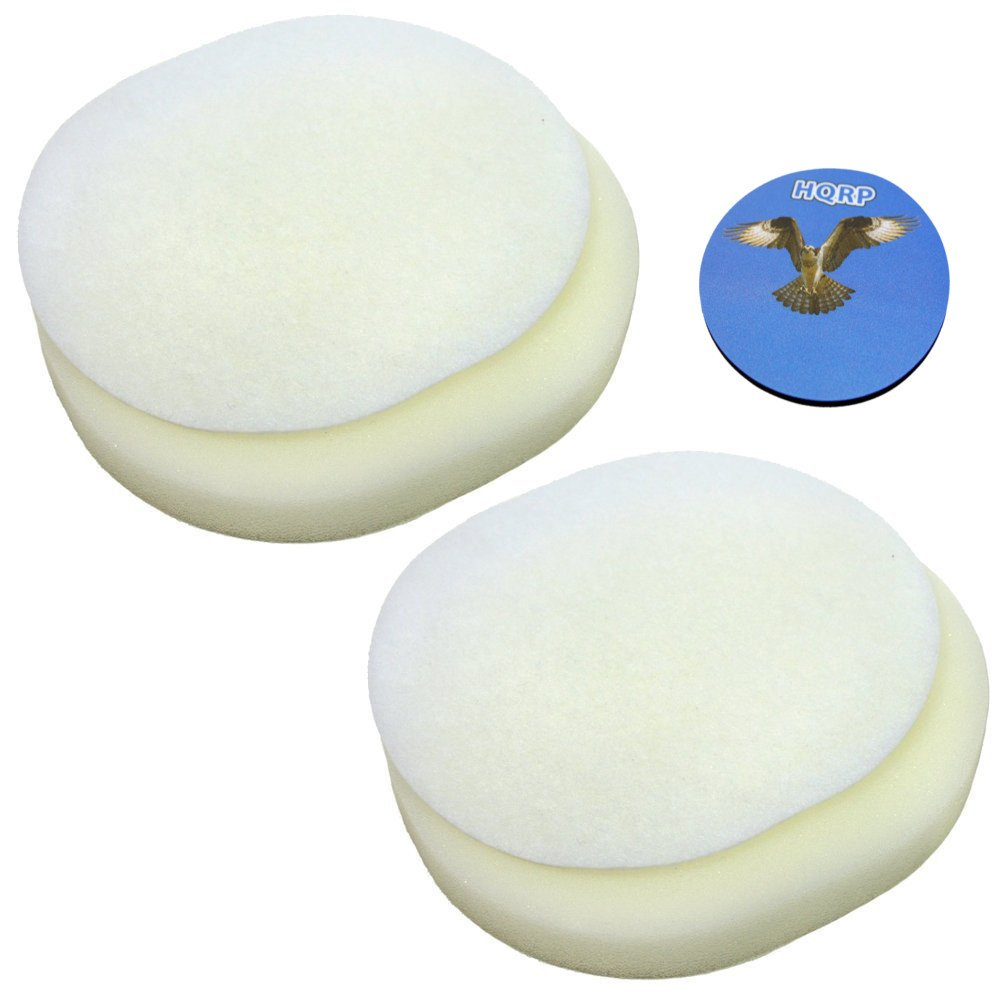 (2) - HQRP 2-Pack Foam and Felt Filter Kit for Shark XFF80 XFF8O Navigator NV80 NV70 UV420 NVC80C NV-C80C NV-80 NV-70 UV-420 DLX Upright Vac Vacuum Cleaner + HQRP Coaster 2  B019IS2GZQ