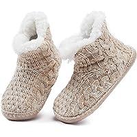 MaaMgic - Mujer Zapatillas Pantuflas Antideslizante de Invierno, como Casa Botas Extra Cálido
