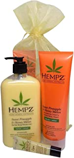 product image for Hempz SWEET PINEAPPLE & HONEY MELON Bath & Body Gift Set - 3 Piece Set