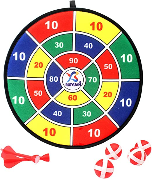 BESPORTBLE Juego de Dardos para Niños con 6 Bolas Y 6 Dardos Juguete de Juego de Mesa para Niños para Interiores Regalo de Fiesta de Cumpleaños para Niños Regalo de 30 Cm: