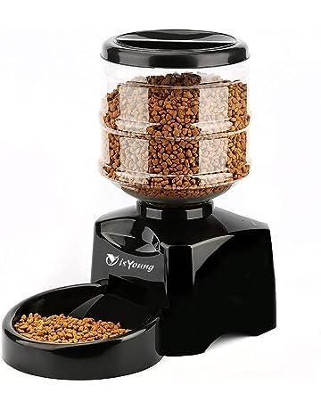 isYoung Comedero Automático 5.5 L de Alimentos para Mascotas Gatos y Perros Alimentador de Mascotas de