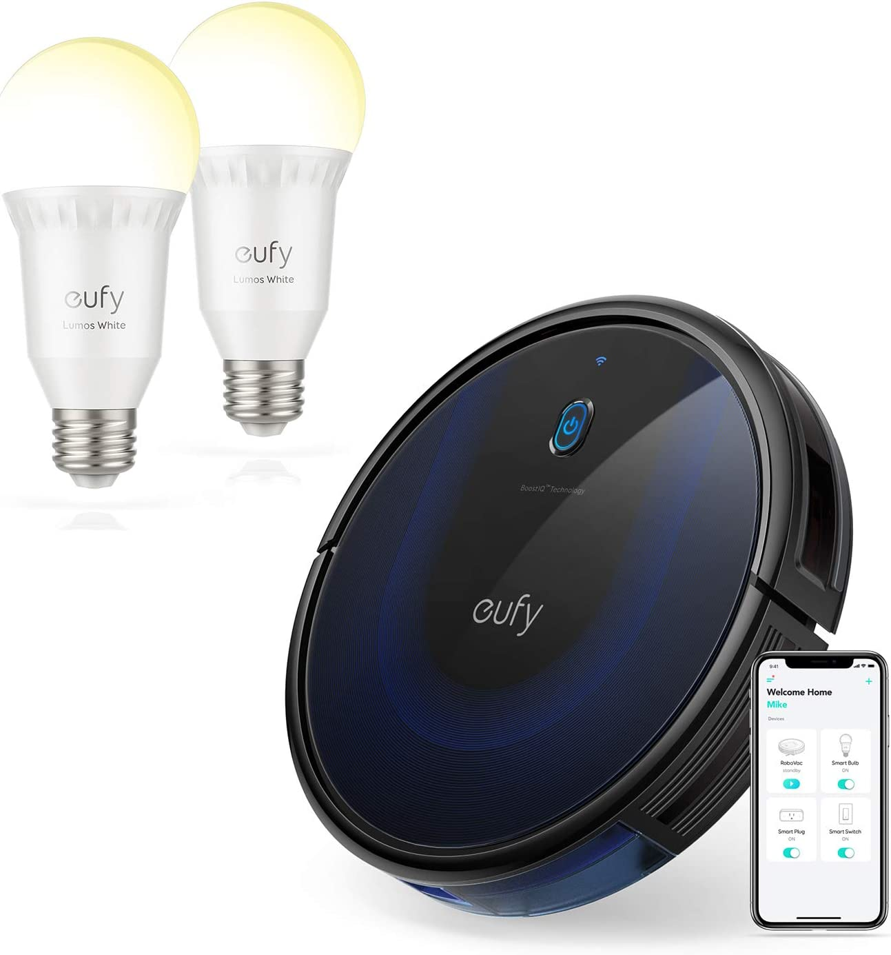 eufy BoostIQ RoboVac 15C MAX | eufy by Anker, Lumos Smart Bulb (2 Pack)