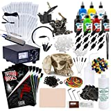Rehab Ink Complete Tattoo Set w/ 2 Machines, Power Supply, 7 Starbrite Ink Colors, Skull Ink Holder & More