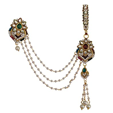 0ffb815ee Buy Taj Pearl Golden Non-Precious Metal Traditional Half Kamar Bandh for  Women Online at Low Prices in India | Amazon Jewellery Store - Amazon.in