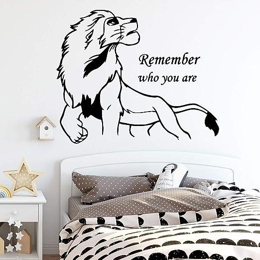 Moda león decoración del hogar Sala de Estar Pegatina de Pared ...