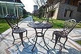 Domi Outdoor Living 3-piece Outdoor Patio Furniture Alexius Cast Aluminum Bistro Set Antique Copper For Sale