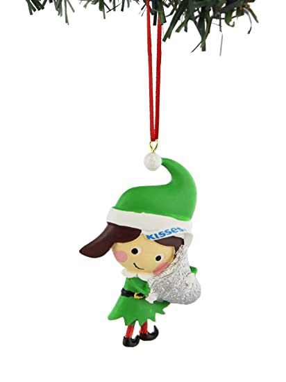 b54bb90c17f09 Image Unavailable. Image not available for. Color  Hershey s Kisses Reese s Kurt  Adler Elf Christmas Holiday Ornament ...