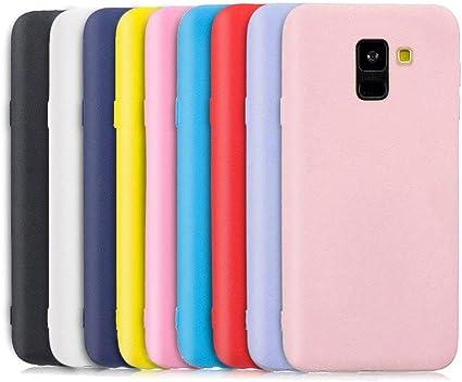 TVVT 9X Funda para Samsung Galaxy J6 2018, Ultra Delgado Color Carcasa Premium Ultraligero Suave Silicona TPU Protectora Espalda Case Cover Anti-Rasguños Anti-Choque: Amazon.es: Electrónica