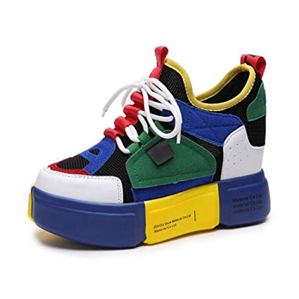 211fd690659cc Amazon.com: DOSOMI Women Wedges Sneakers Vulcanized High Top Height ...