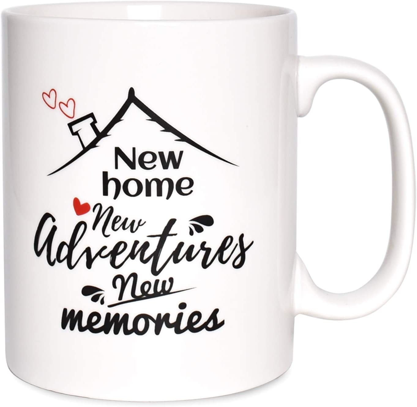 Bosmarlin Housewarming Gift Ideas, New Home Ceramic Mug for Couple, Friends, Men, Women, 17.5 Oz, Dishwasher and Microwave Safe