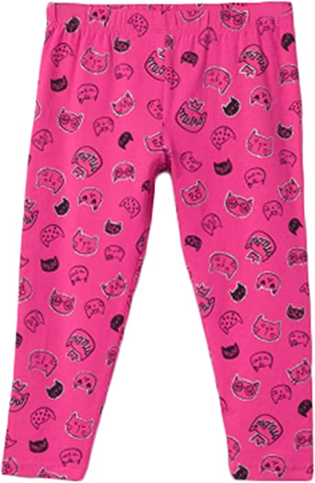 04879c0318922 bossini Passionate Valentine's Day Girls Elasticised Kitten Print Leggings  - Pink,Size 90,US