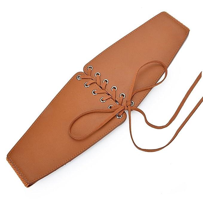 iShine Large Ceinture Elastique Ceinture de Femme avec Bandage Taille Haute  Echarpe Coupe Cintrée Mode Corset par PU Elasticité pour Chemisier Robe  66-88cm ... 7aecd8e89c9