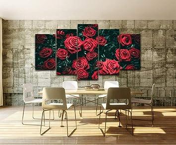 BAIMM Rosa Rossa Fiore Appeso Pittura Inchiostro Pittura ...