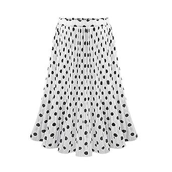 Finebo - Falda mediana para mujer, estilo retro, falda Basica, tul ...