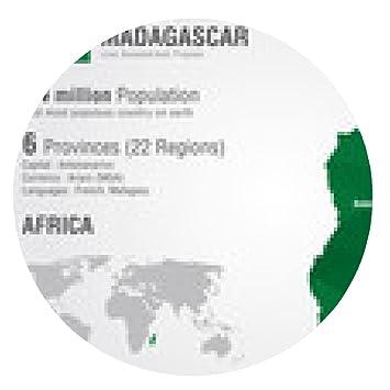 Mousepad Madagascar world map with a pixel diamond: Amazon.de ...