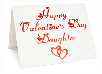 valentines foil card happy valentine s day daughter amazon co uk