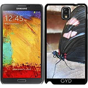 Funda para Samsung Galaxy Note 3 (GT-N9500) - Mariposa Grande Negro by Cadellin