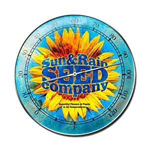 Sun Rain Seed Retro Metal Sign