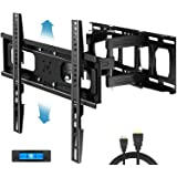 Everstone Full Motion TV Wall Mount with Height Adjustment for Most 32-65 inch LED, LCD, OLED Flat&Curved TVs, Bracket Swivel