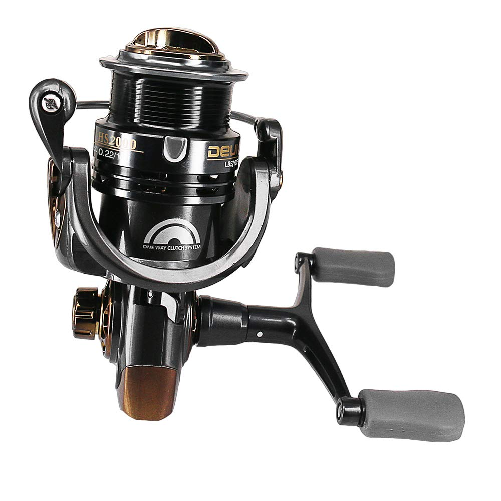 Walmeck- Double Rocker Spinning Fishing Reel 5+1 Ball Bearings Left/Right Interchangeable 7.1:1 Spinning Reels by Walmeck-