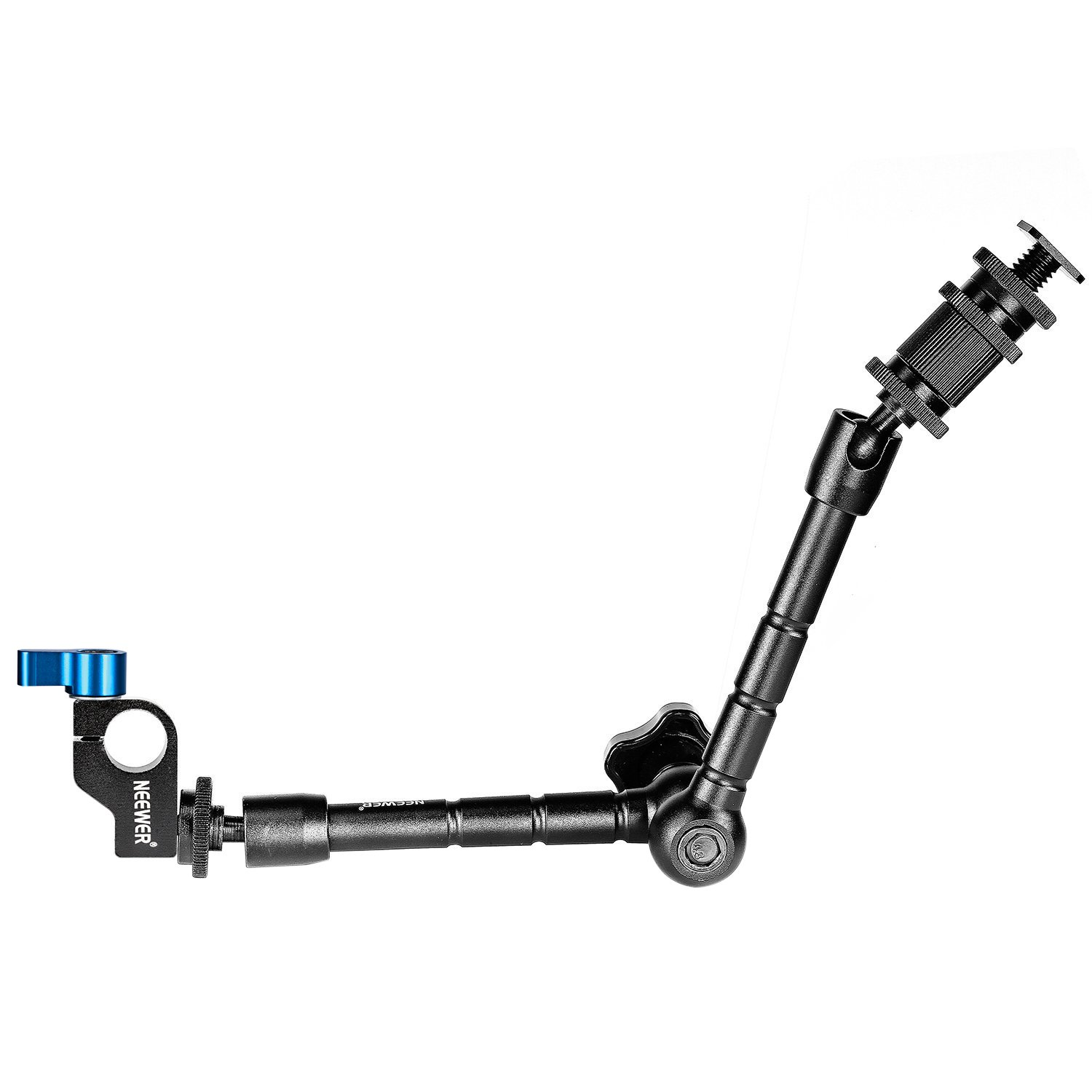 Neewer 11 inches Articulating Magic Arm - Aluminum Alloy Construction with 15mm Metal Rod Clamp for Camera Field Monitor, LED Light, Flash Light, Camera Rig, Movie Rig up to 4.4 pounds/2 kilograms 10090256