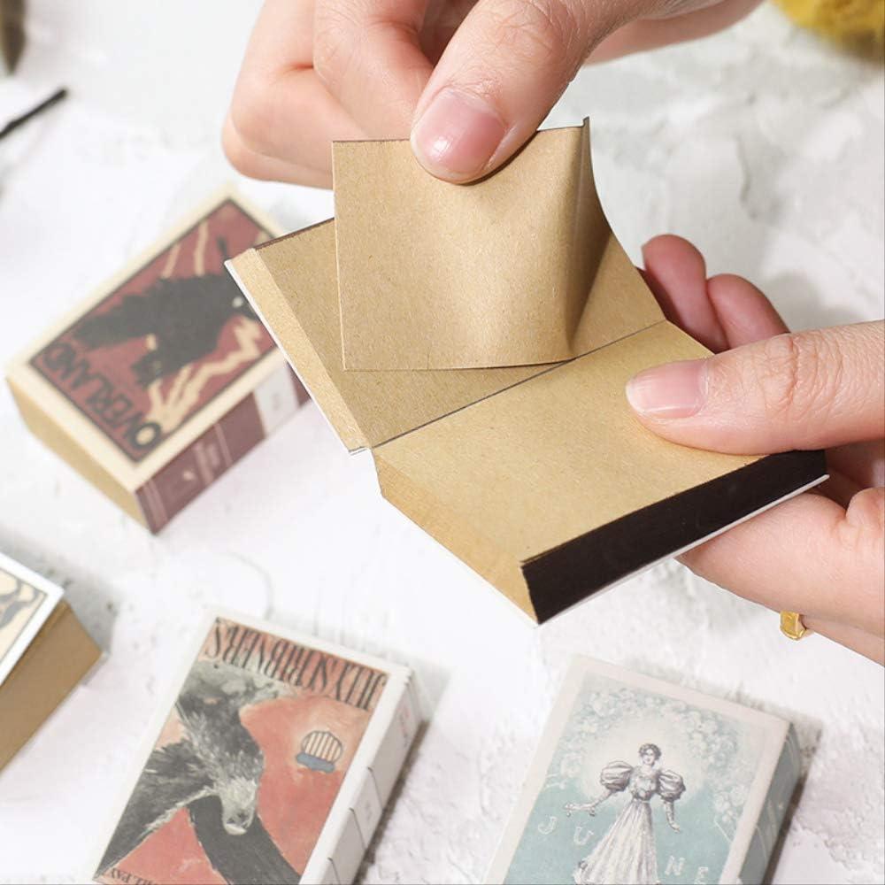 ZSWFGG Cuaderno Estilo vintage Caja de cerillas Forma Mini cuaderno 244 páginas Bloc de notas portátil Estudiantes creativos Papelería Regalo para amigos Nuevo: Amazon.es: Oficina y papelería