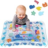 Tummy Time Baby Water Play Mat Inflatable Toy Mat for Infant & Toddlers Activity Center for 3 6 9 Months Newborn Boy…