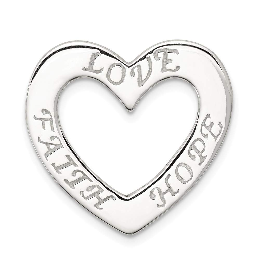 925 Sterling Silver Faith Hope Love Heart Pendant Charm Necklace Celtic Claddagh S//love Message Fine Jewelry Gifts For Women For Her