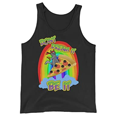 a7e3da2cc03803 Awk.Tv Spiritual Super Hero Kitty Cat Dream Meaning Pizza Rainbow  Interpretation Unisex Tank Top