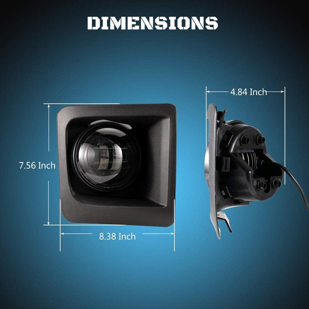 A/&UTV PRO LED Fog Light Assembly LED Fog Lights Kit Compatible with 2015-2020 Ford F150,42W 4 Inch