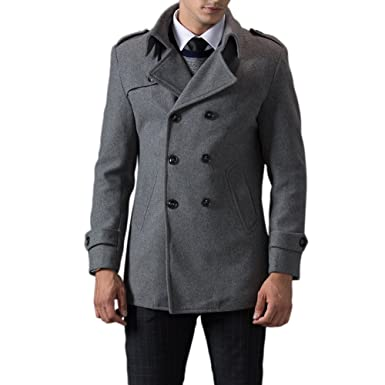 TAPOO Abrigo de Lana de Hombre Coat Parka Chaquetón para Invierno: Amazon.es: Ropa y accesorios