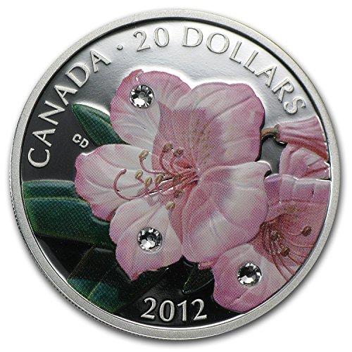 2012-ca-canada-1-oz-silver-20-rhododendron-flower-crystal-dewdrops-1-oz-brilliant-uncirculated