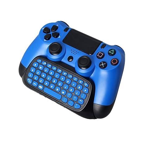 JBES Teclado del control de PS4, teclado inalámbrico de tipo mini Pad Pad de chat
