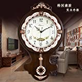 Jedfild The Living Room European-style wall clock quiet countryside creative modern art swing Clock