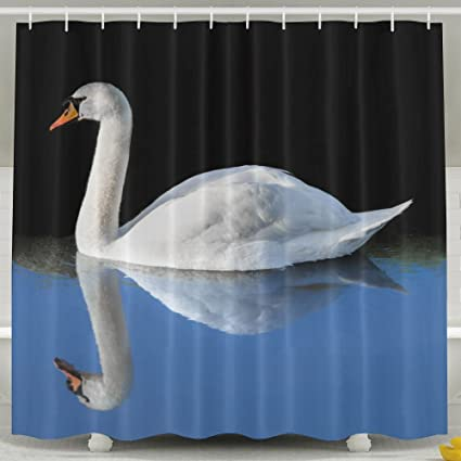 Image Unavailable Not Available For Color Jfiugjboihdf Swan Shower Curtain