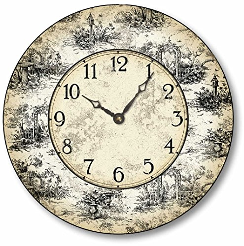 Item C6021 Vintage Style 10.5 Inch French Toile Clock