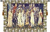 Tapestry, Extra Large, Wide - Elegant, Fine, French & Wall Hanging - The Holy Grail, with Border, A-H62xW85
