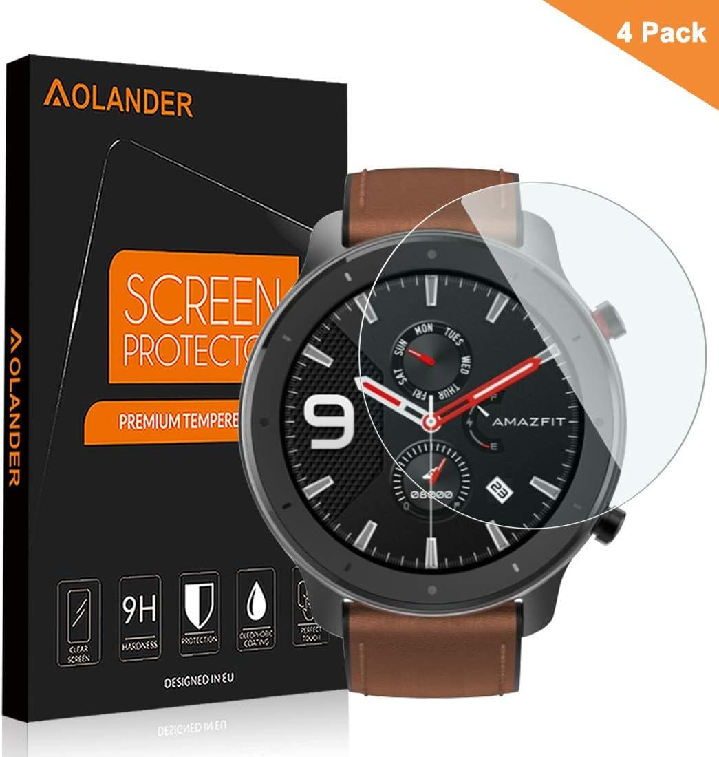 En TPU souple Transparent Diman Lot de 3 films de protection d/écran pour Amazfit GTR 2 Anti-rayures et anti-traces de doigts