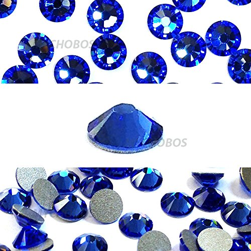 - SAPPHIRE (206) blue Swarovski NEW 2088 XIRIUS Rose 20ss 5mm flatback No-Hotfix rhinestones ss20 144 pcs (1 gross) *FREE Shipping from Mychobos (Crystal-Wholesale)*