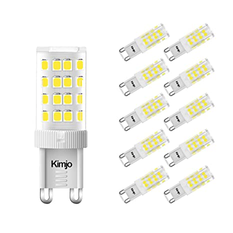 Lampadine G9 Led.10 X G9 5w Led Bulbs Kimjo Cool White 6000k 400lm Lamp Equivalent 40w Halogen Bulbs 80ra 360 Degrees Beam Angle Energy Saving Light Ac220 240v Non