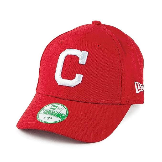 Infantil con forma de New Era 9FORTY indios Gorra de béisbol Cleveland -  diseño de liga de Basic - rojo  Amazon.es  Ropa y accesorios f6564f81633