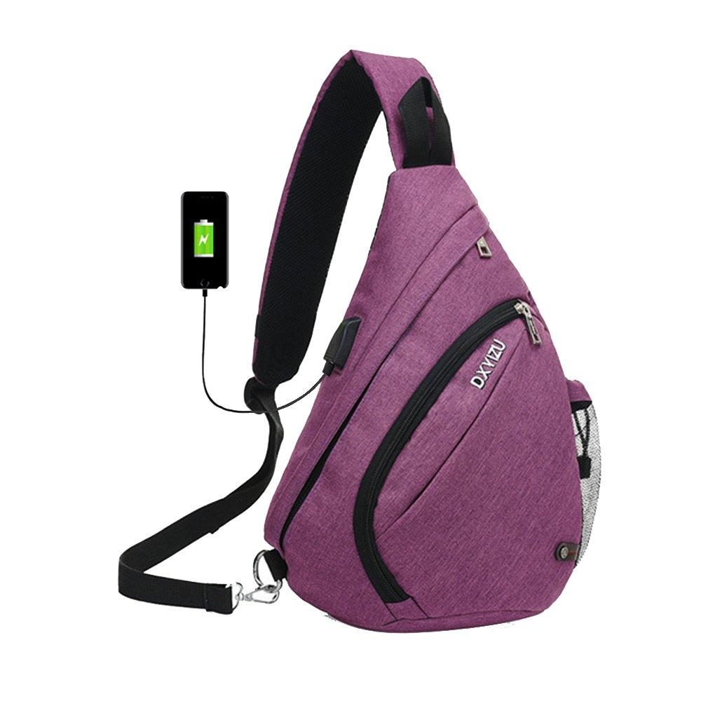 d8b0e4104cad SINOKAL Sling Bag Chest Shoulder Backpack Casual Crossbody Shoulder  Triangle Packs Daypacks for Men Women Canvas Digital
