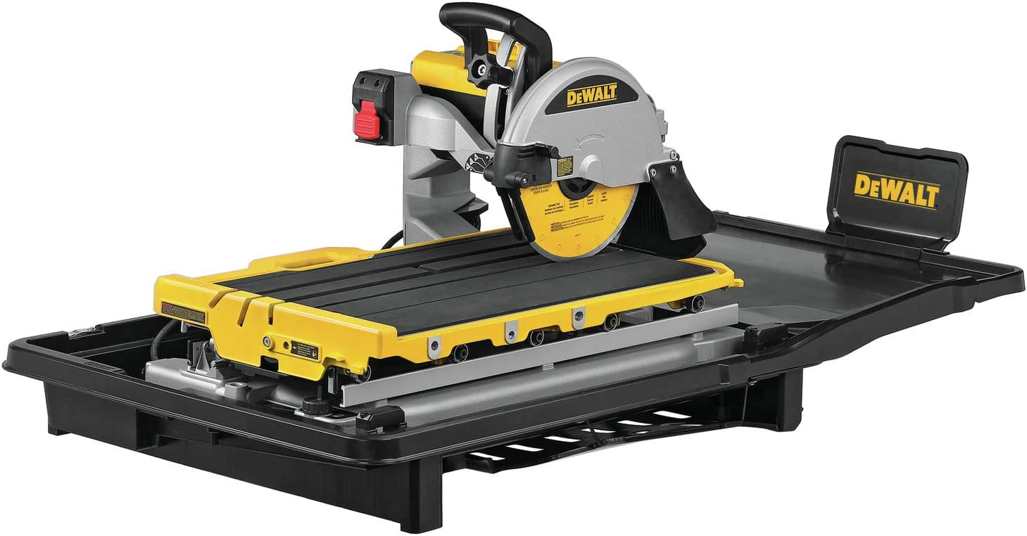 DEWALT Wet Tile Saw, High Capacity, 10-Inch (D36000)